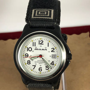 Milan Accessories - Vintage Milan Design 12 and 24 Hour Dial Watch